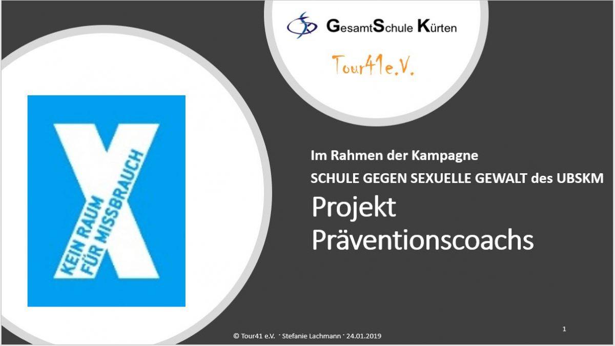 """Tour41 macht Schule: Schulinternes Pilotprojekt """"Präventionscoachs"""" in Kooperation mit der GSK"""
