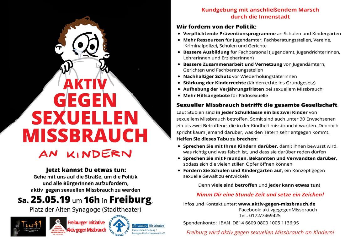Staufen: erneut schwerer Fall von sexuellem Kindesmissbrauch! Freiburg wird AKTIV! #KeineTatohneKonsequenz