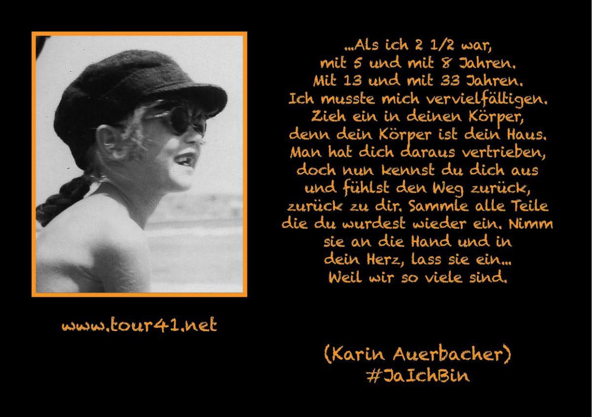 #JaIchBin – Weil wir so viele sind – Karin Auerbacher